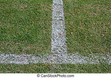 lines football on the field