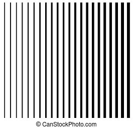 Lines from thin to thick. Set of 22 straight, parallel vertical lines, stripes.
