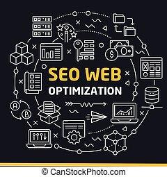 lines icons illustration circle seo web optimization