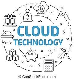 Lines illustration cloud technology