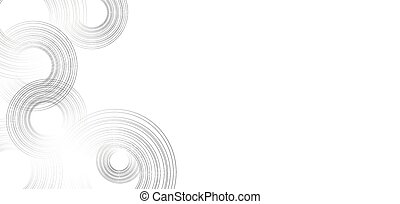 Lines in Circle Form . Vector Illustration.