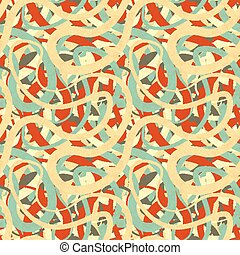 Lines in retro colours, abstract seamless pattern