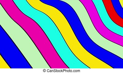 Lines in various colors