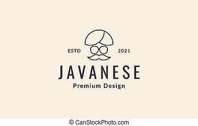 lines javanese headgear logo symbol vector icon illustration graphic design