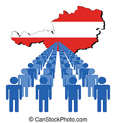 people with Austria map flag