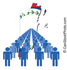 people with Belize map flag