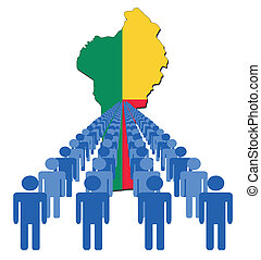 people with Benin map flag