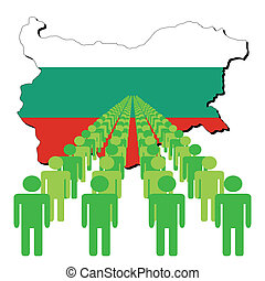 people with Bulgaria map flag
