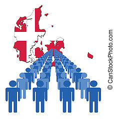 people with Denmark map flag