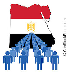 people with Egypt map flag