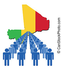 people with Mali map flag