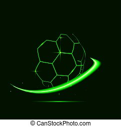 Lines of soccer ball