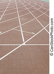 Lines on a running track