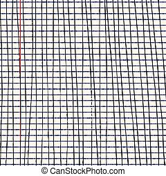 Lines on a sheet of lined paper