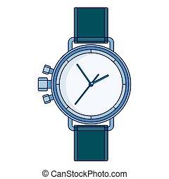 lines wristwatch image - Solid elegant silver lines men...