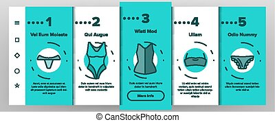 Lingerie Accessories Items Linear Vector Onboarding