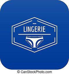 Lingerie body icon blue vector
