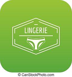 Lingerie body icon green vector