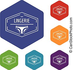 Lingerie body icons vector hexahedron