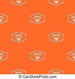 Lingerie body pattern vector orange