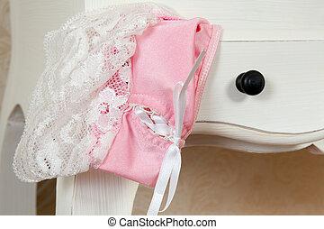Lingerie drawer closeup