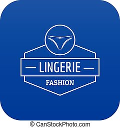 Lingerie female icon blue vector