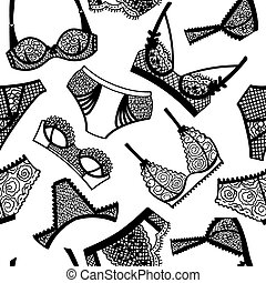 Lingerie panty and bra seamless pattern.