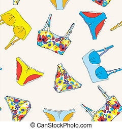 Lingerie retro style seamless pattern