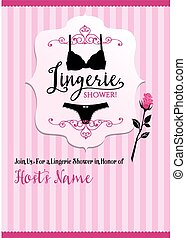 Lingerie shower invitation card