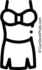 Lingerie Skirt Icon Vector Outline Illustration