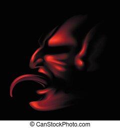 lingua, diavolo, spuntare