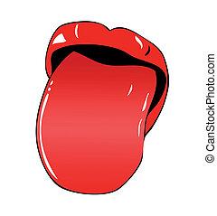 lingua fuori