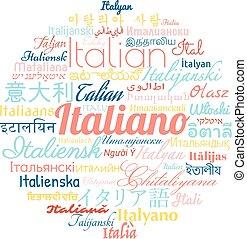 linguagem italiana, estrangeiro