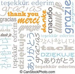 lingue, lei, tagcloud, ringraziare