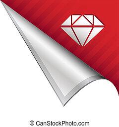 linguetta, diamante, angolo
