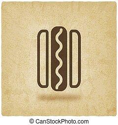 linguiça, hotdog, pão