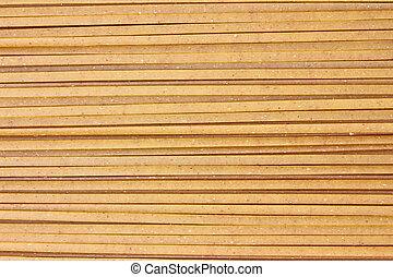 Linguine - A very close view of whole grain linguine.