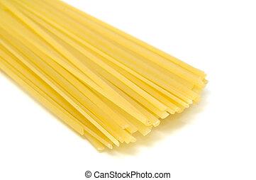 Linguine Pasta on White Background