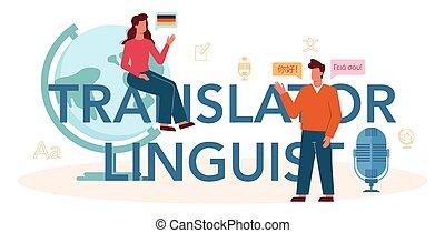 linguist, translator, tradurre, header., documento, ...