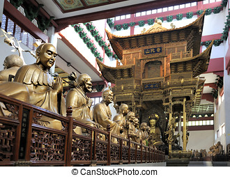 Lingyin Temple, Hangzhou, Shandong Province - Hall with...