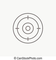 linha, alvo, icon., tábua