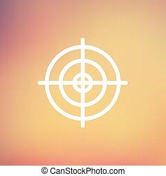 linha, alvo, magra, crosshair, ícone