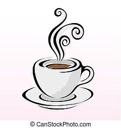 linha arte, café, 4
