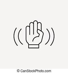 linha, câmera, modo, anti-shake, ícone