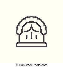 linha, casório, arco, ícone