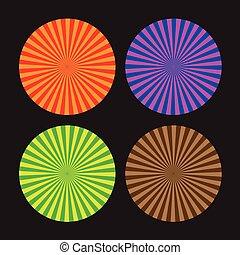 linha, colorido, redemoinhos