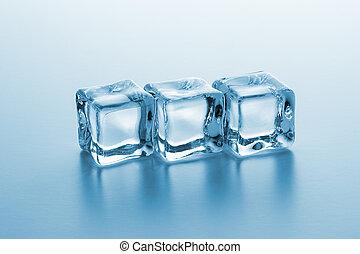 linha, cubos, gelo