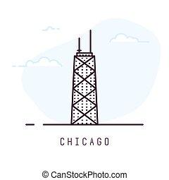 linha, estilo, chicago