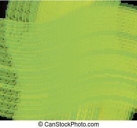 linha, experiência verde, onda