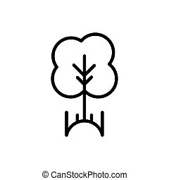 linha, grossas, rural, agricultura, árvore